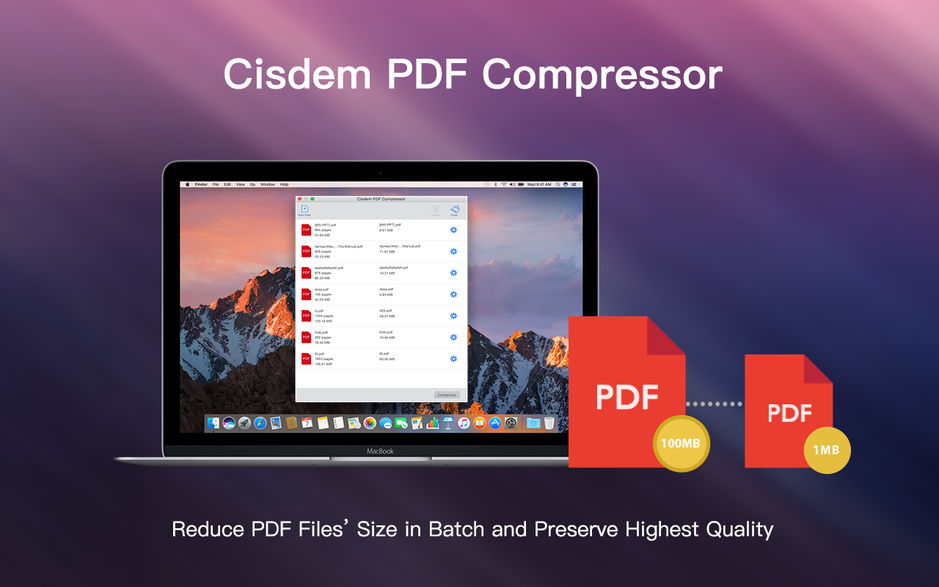 Cisdem PDF Compressor for Mac v3.1.0 PDF压缩器 破解版下载
